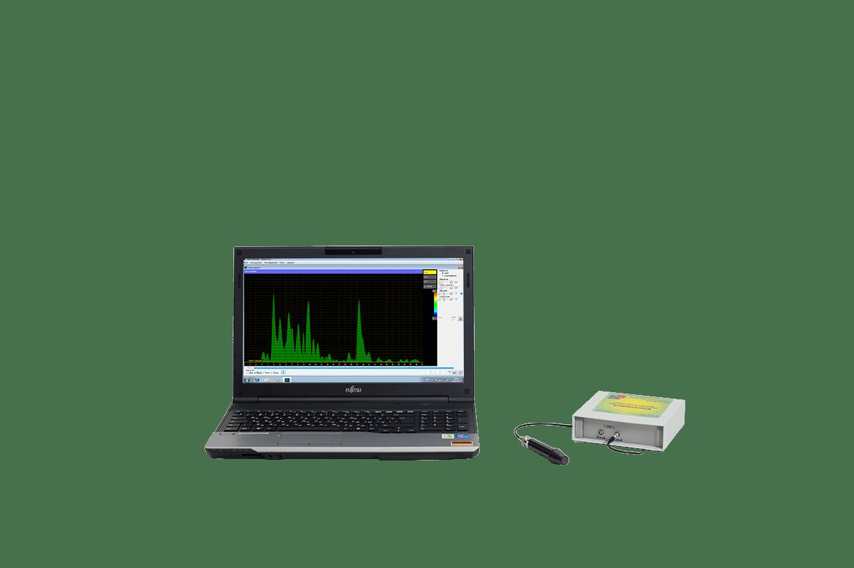 Эхосинускоп Комплексмед исполнение 4.3 с ноутбуком. - Сканер ультразвуковой для носовых пазух во внешнем настольном корпусе с ноутбуком.