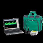 Допплеровский анализатор Комплексмед исполнение 2.3 с ноутбуком - Медицинский прибор для допплеровского обследования сосудов во внешнем настольном корпусе.