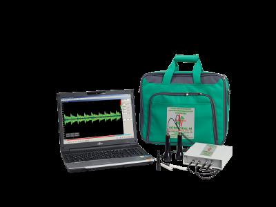 Допплер + эхоэнцефалограф Комплексмед исполнение 1.3 с ноутбуком - Допплеровский анализатор + двухканальный эхоэнцефалограф во внешнем настольном корпусе.